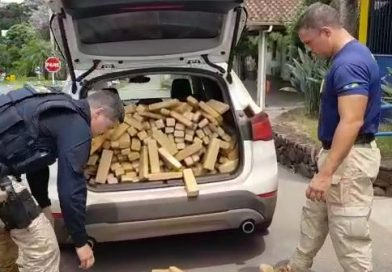 A Polícia Rodoviária Federal apreendeu 280 quilos de maconha em Bento Gonçalves