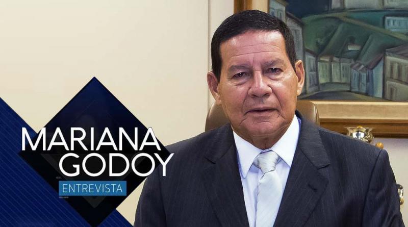 TV Pampa exibe entrevista com o vice-presidente da República, general Hamilton Mourão